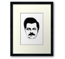 Ron Swanson Retro  Framed Print