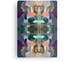 Abstraction Lined Metal Print