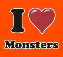 I Heart Monsters by HighDesign