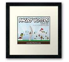 Angry Voters Framed Print