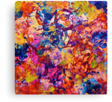EVERYBODY'S COASTER- Bold Abstract Acrylic Painting Wine Glass Coaster Wow Autumn Home Decor Gift  Canvas Print
