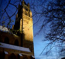 Snow covered Church in Bruges by copacic