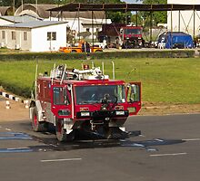 Fire Truck at Banjul Airport by Sue Robinson