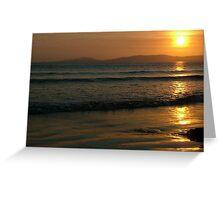 Sunset On Rossnowlagh Beach Greeting Card