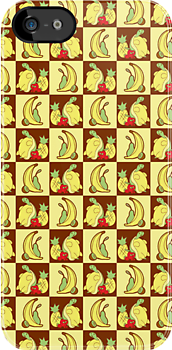 Fruit Turtle Checkered Pattern by SaradaBoru