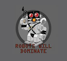 Robots Will Dominate: iPhone Case by jeffpina78