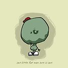 Sad Little Hat Man: iPhone Case by Jeff Pina