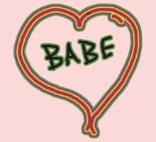 I LOVE babe heart  Kids Clothes