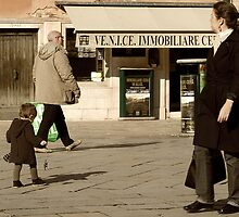 Me and My Shadow-Venice, Italy by Deborah Downes