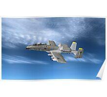 Fairchild Republic A-10 Thunderbolt II Poster