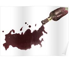 Wine Map Of Russia Poster