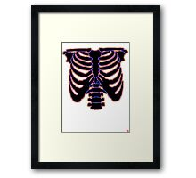 HALLOWEEN COSTUME RIB CAGE Framed Print