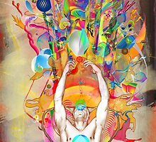 """BGRN-003 Benefit Poster with Archan Nair - """"Hydrascensionism"""" by David Avatara"""