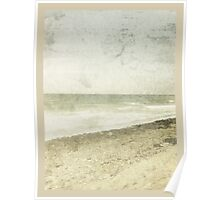 whitewashed beach Poster