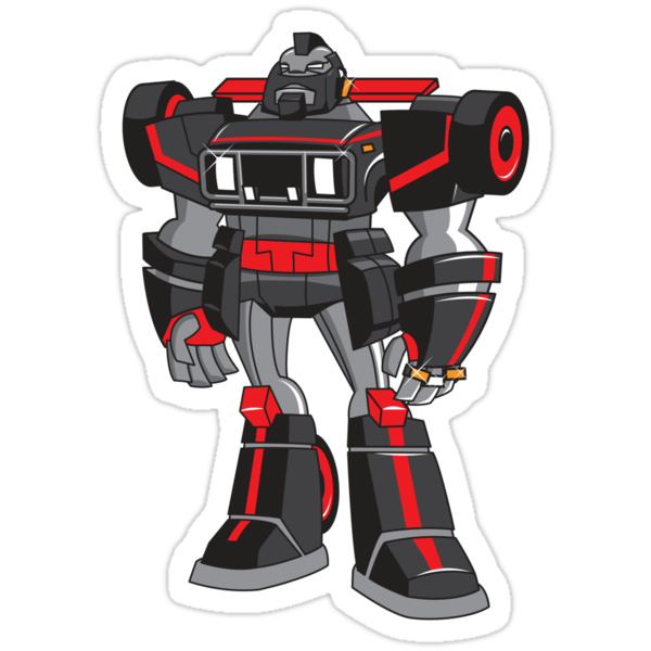 PIT-T Soldierbot of Fortune Robot Sticker by SevenHundred