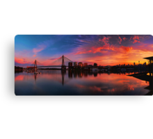 Sunrise at Blackwattle Bay - Panorama Canvas Print