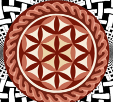 CELTIC FLOWER OF LIFE VORTEX MERCH OCT 2012 Sticker