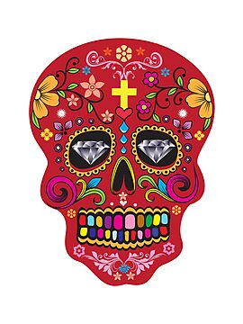 Day of the dead  sugar skulls  by nadil