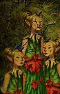 iPHONE Case-Enchanting Elves by Pamela Phelps