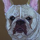 French Bulldog Vignette 2 by Anita Meistrell Putman