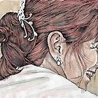Redhead with a Diamond Earring by Diana Cardosi-Bussone