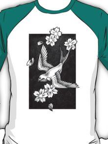 Sparrow Through Blossoms T-Shirt