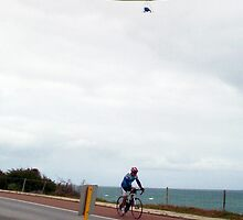 Hang Glider 10 With Bicycle - 14 10 12 by Robert Phillips