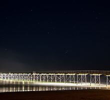 Saltburn Pier by Night by Darren Allen