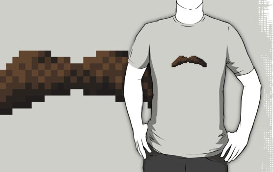 Macho Pixel Moustache by Ollie Chanter