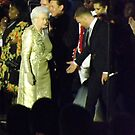 Queen arriving on stage by graceloves