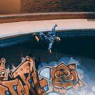 Skating at the bowl by Peter Gray