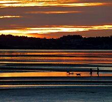 Traeth Lafan Sunset - October 2012 #2 by Graham Kidd