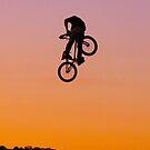 BMX sunset rider by Peter Gray