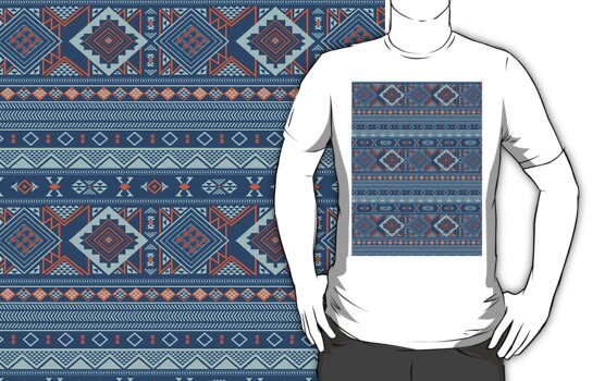 Aztec Pattern T-Shirt by Jordan Bails