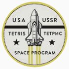 TETRIS SPACE PROGRAM - Gaming Luggage Labels Series by A.J.  Hateley