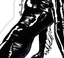 Black Cat in Shadow Sticker