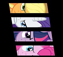 Mane 6 I-Phone case by mikeAguy1