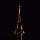 Eiffel Tower at Night by Wacobob1995