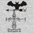 Haunted Mansion Bat Weather Vein by Topher Adam for Hugs & Bitchslaps by Hugs & Bitchslaps SX Couture