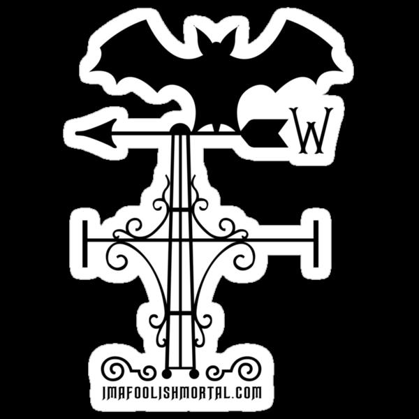 Haunted Mansion Bat Weather Vein by Topher Adam for Hugs & Bitchslaps by TopherAdam