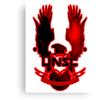 UNSC Red Fade Red Canvas Print
