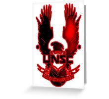 UNSC Red Fade Red Greeting Card