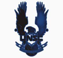 UNSC Blue Fade Blue T-Shirt