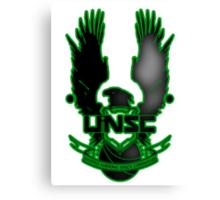 UNSC Fade Green Canvas Print