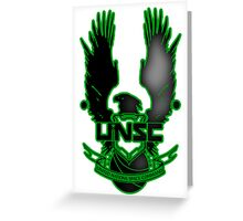 UNSC Fade Green Greeting Card
