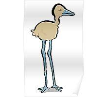 long legged bird Poster