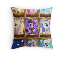 The Pony Elements Throw Pillow