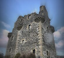 Scalloway Castle ( 1 ) by Larry Lingard-Davis