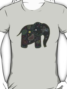 grey embroidered elephant T-Shirt