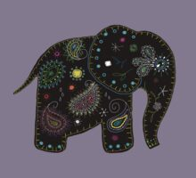 black embroidered elephant by Karin  Taylor